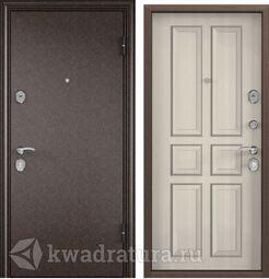 Дверь входная стальная Торэкс Delta М 10 медь/ПВХ Белый перламутр СК62