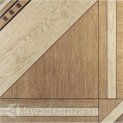 Напольная плитка Еврокерамика Лерида бежево-коричневая 3 LD 0058 40х40 см