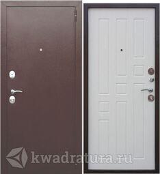 Входная дверь Феррони Гарда 6 см Медь/Белый ясень