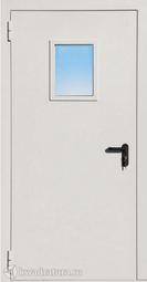 Дверь противопожарная со стеклом ДПМO EI60-01 Ral 9016