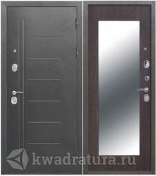 Входная дверь Троя 10 МАКСИ зеркало Серебро/Венге
