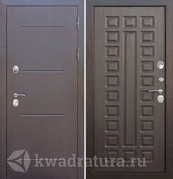 Входная дверь Феррони Изотерма 11 Медный антик/Венге