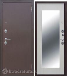 Входная дверь Феррони Царское зеркало MAXI Медь/ Белый ясень