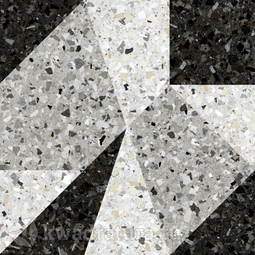 Керамогранит Керамин Терраццо 1Д серый с рисунком 50x50 см