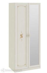 Шкаф Лючия для одежды с 1 глухой и 1 зеркальной дверями