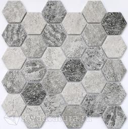 Мозаика керамическая Bonaparte Olmeto grey 28,2х27,1