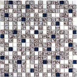 Мозаика стеклянная c камнем Bonaparte Dreams blue 30х30
