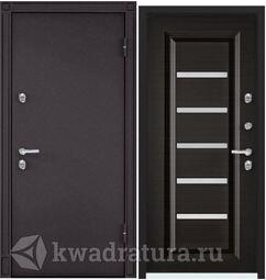 Дверь входная стальная Торэкс Snegir 20 MP 8019/ПВХ венге поперечное S20-04