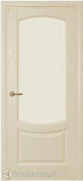 Межкомнатная шпонированная дверь Олива ДО Дуб Слоновая кость 2000х800