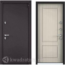Дверь входная стальная Торэкс Snegir 55 Белый перламутр S55-NC-1
