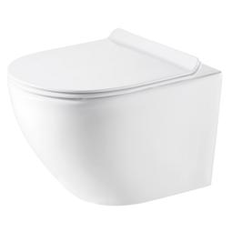 Унитаз подвесной безободковый Azario Grado 0046 сиденье микролифт